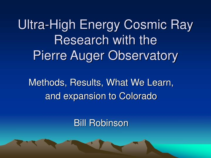 ultra high energy cosmic ray research with the pierre auger observatory