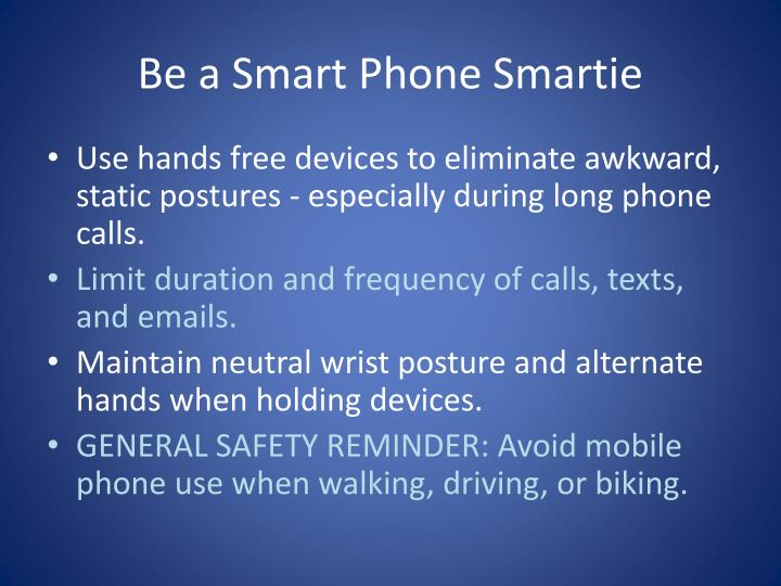 Be a Smart Phone Smartie
