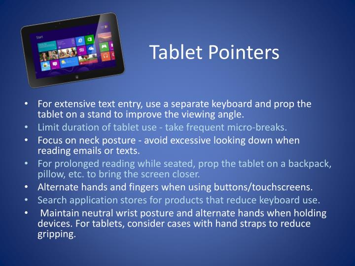 Tablet Pointers