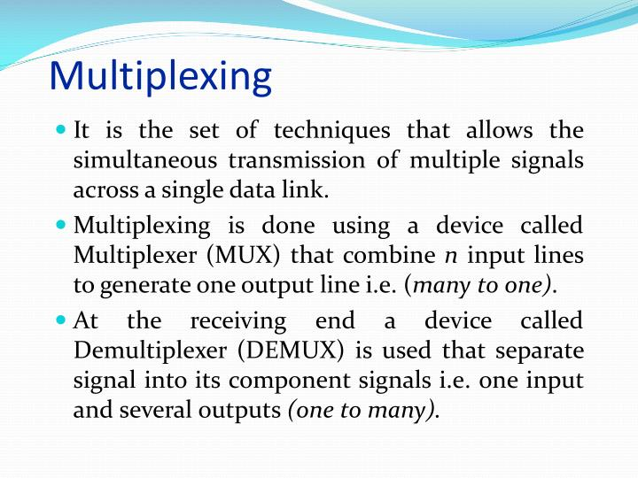 Multiplexing1