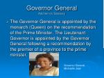 governor general add term to glossary