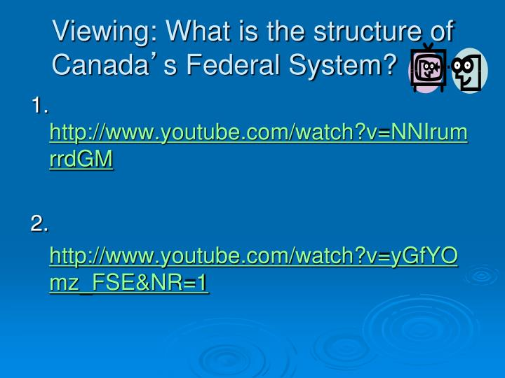 Viewing: What is the structure of Canada