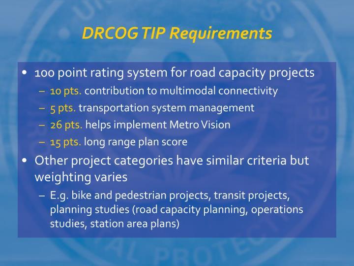 DRCOG TIP Requirements