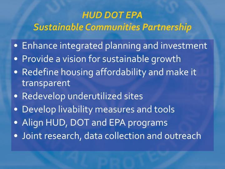 HUD DOT EPA