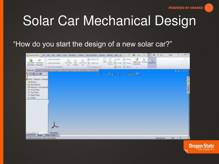 Solar Car Mechanical Design