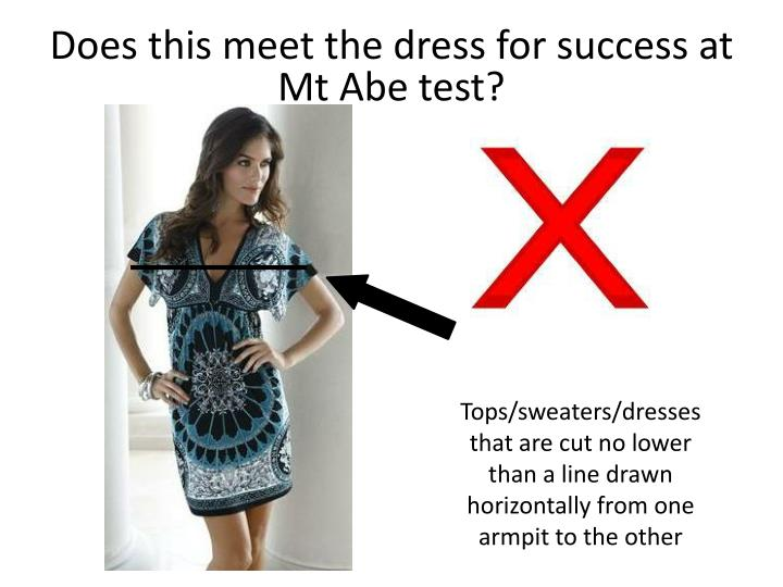 Does this meet the dress for success at Mt Abe test?