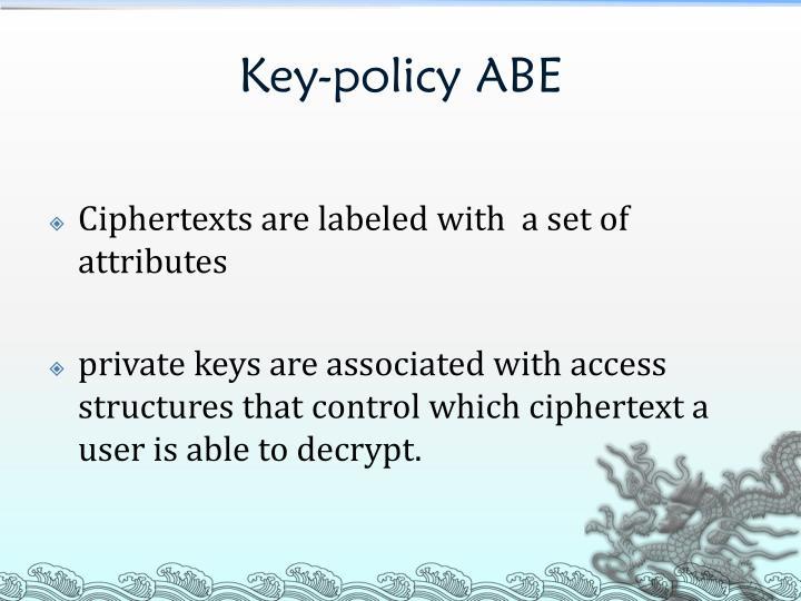 Key-policy ABE