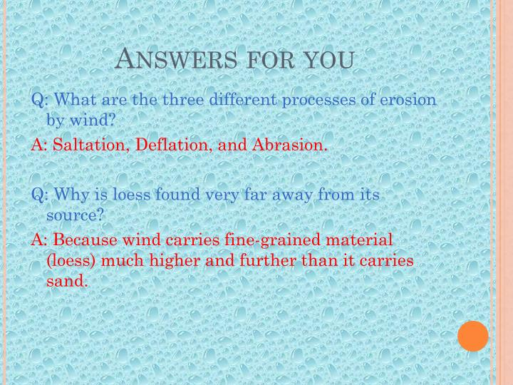 Answers for you