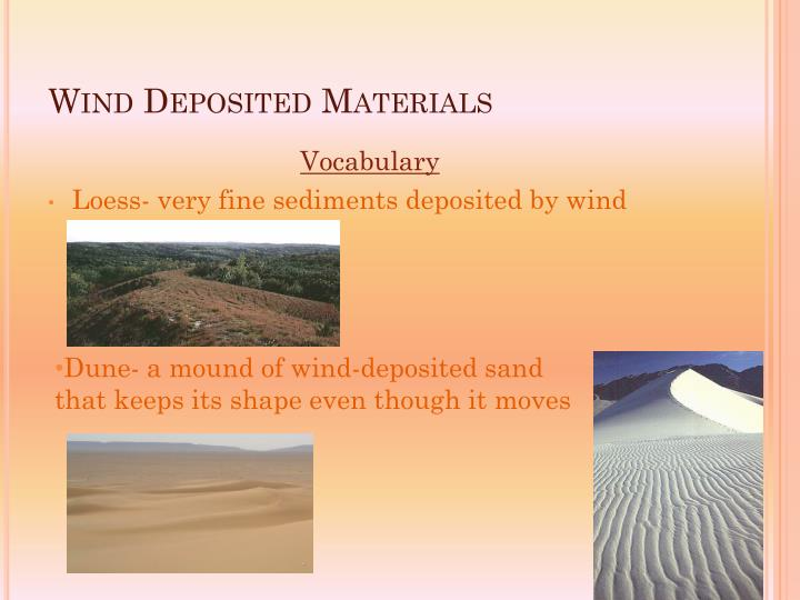 Wind Deposited Materials