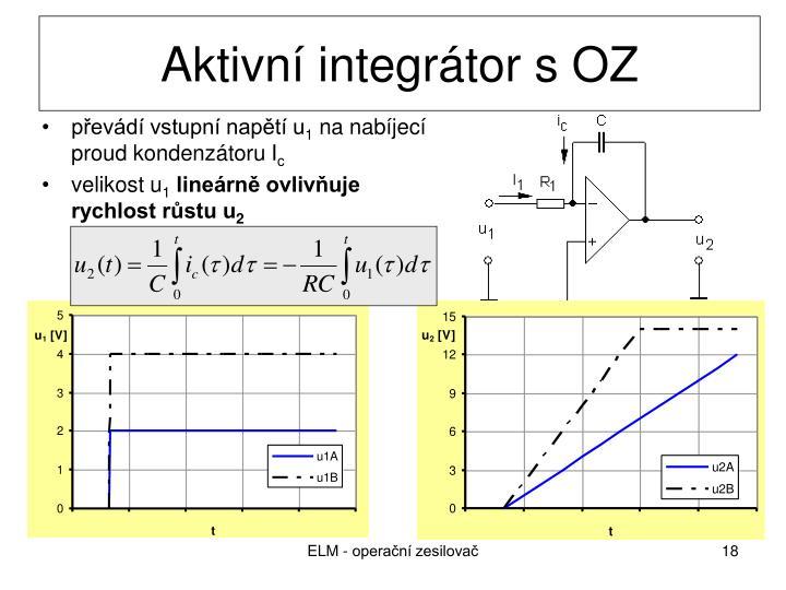 Aktivní integrátor s OZ