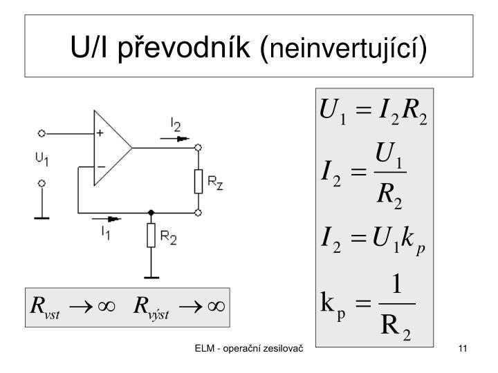 U/I převodník (