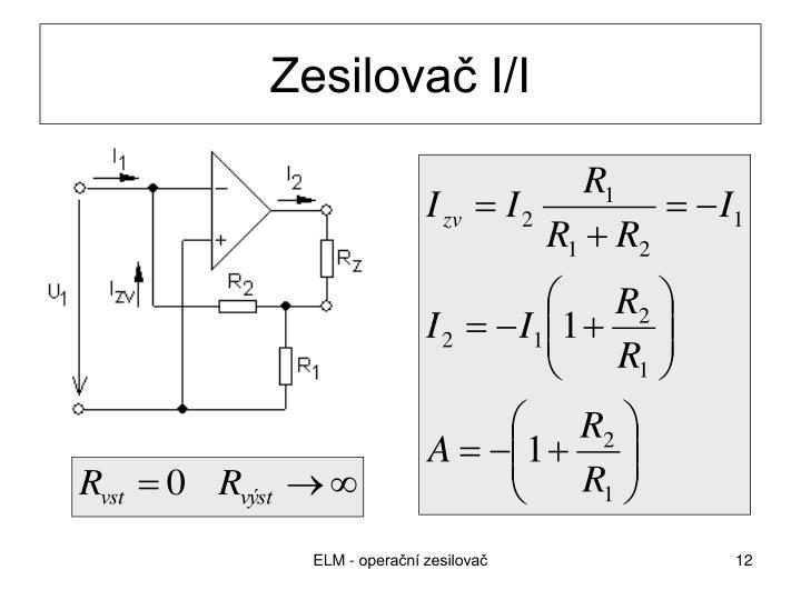 Zesilovač I/I