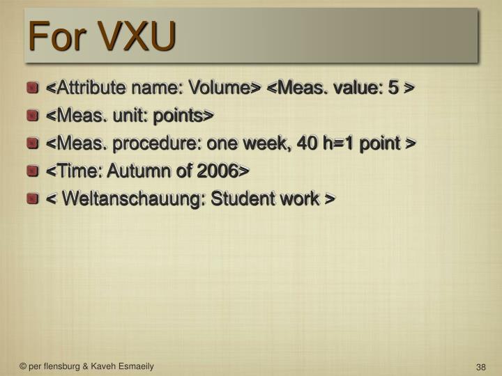 For VXU