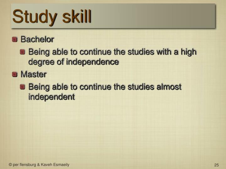 Study skill