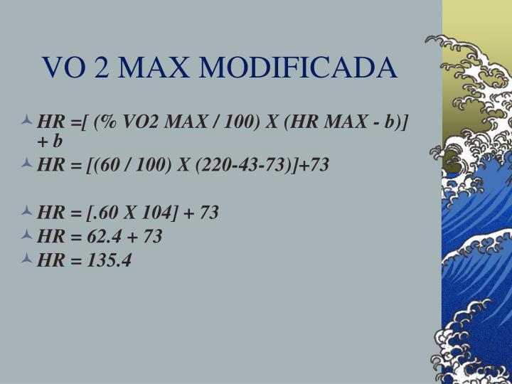 VO 2 MAX MODIFICADA