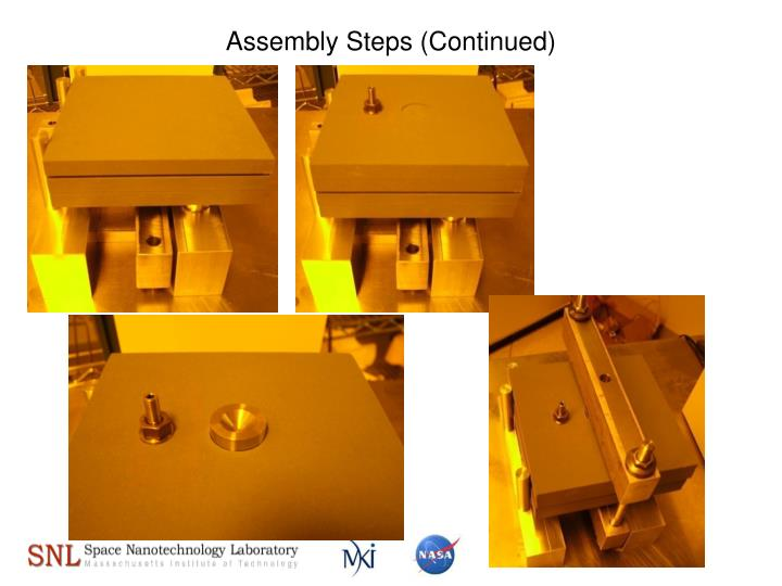 Assembly Steps (Continued)