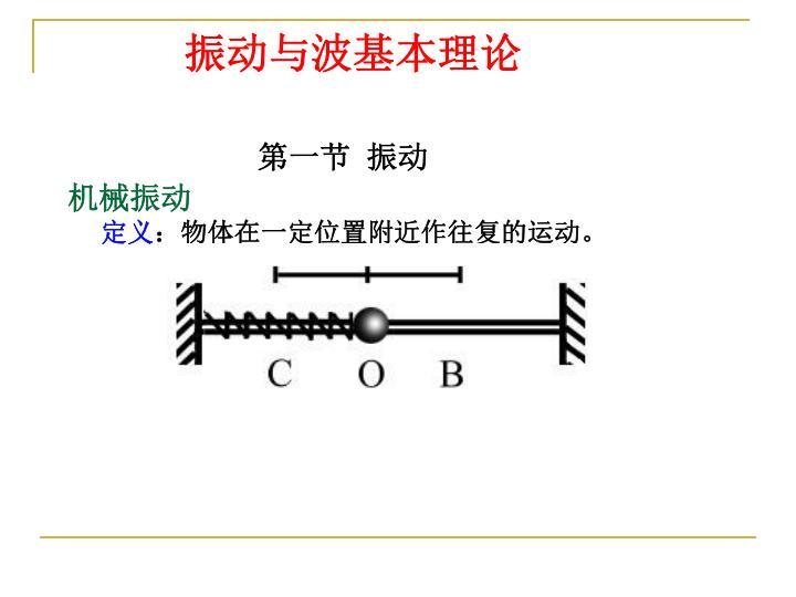 振动与波基本理论