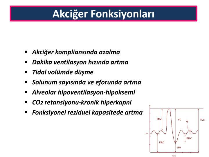 Akciğer Fonksiyonları