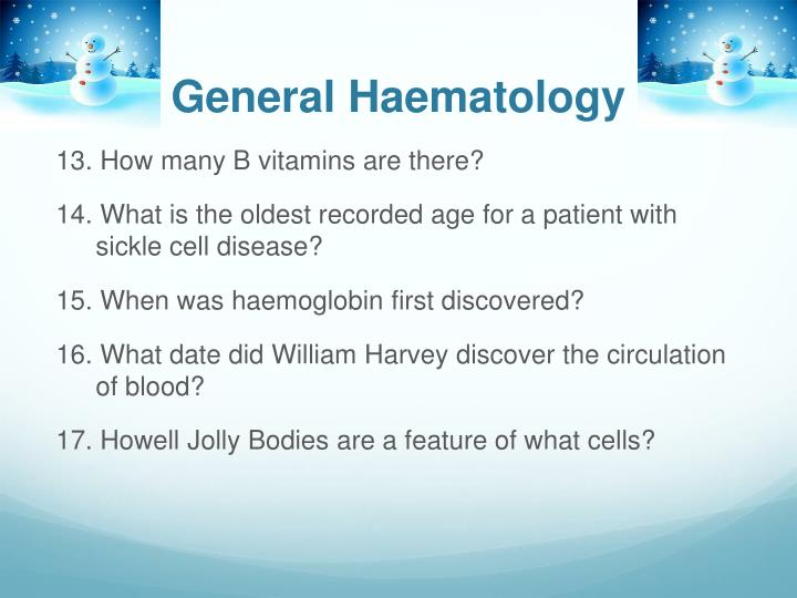 General Haematology