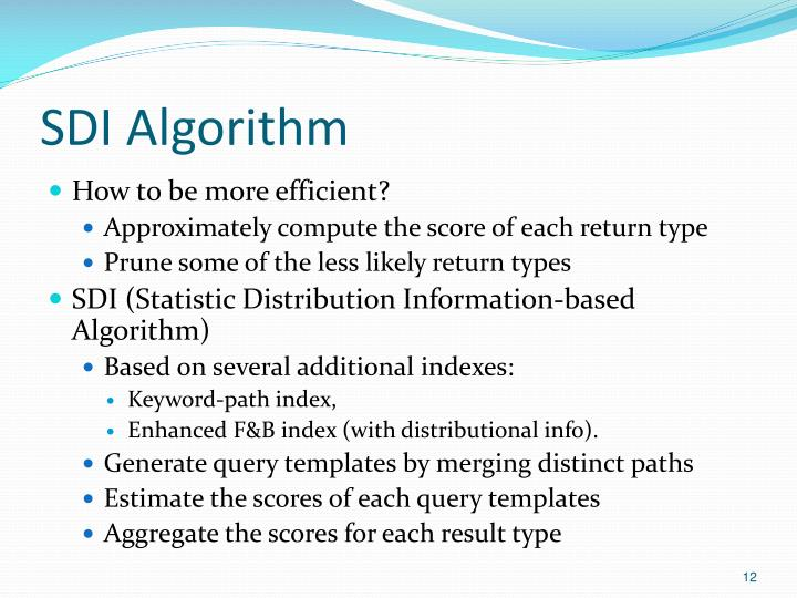 SDI Algorithm