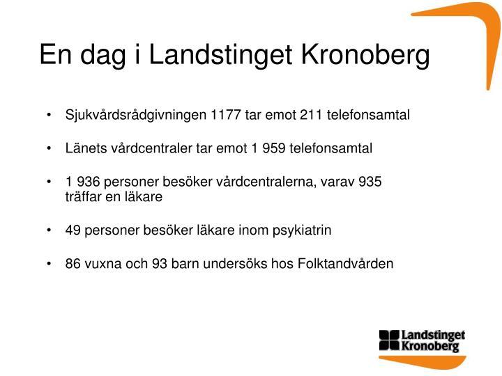 En dag i Landstinget Kronoberg