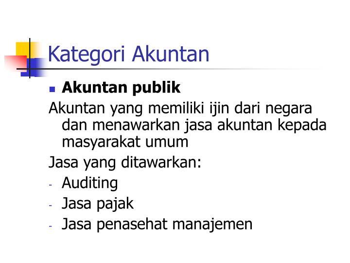 Kategori Akuntan