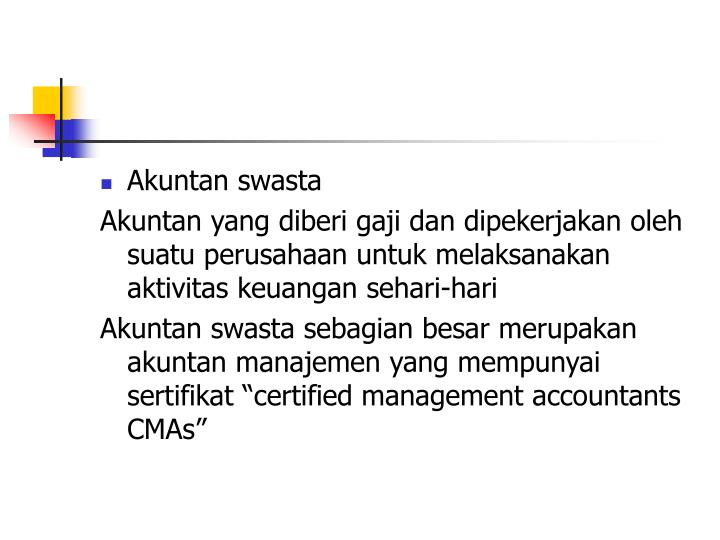Akuntan swasta