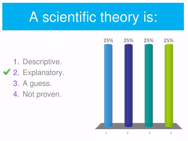 A scientific theory is: