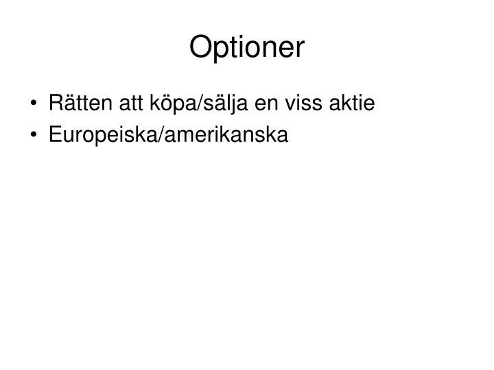 Optioner
