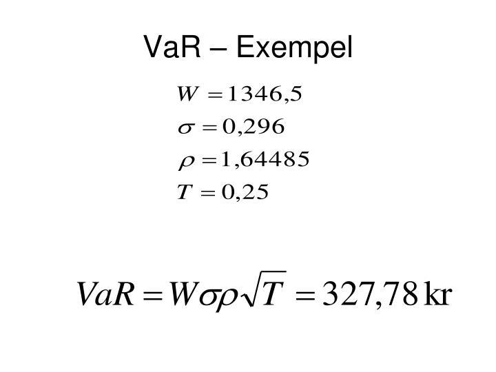 VaR – Exempel