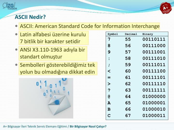 ASCII Nedir?