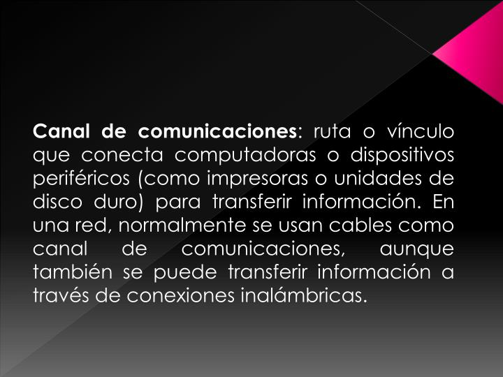 Canal de comunicaciones