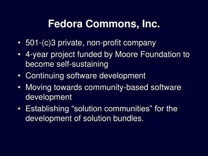 Fedora Commons, Inc.