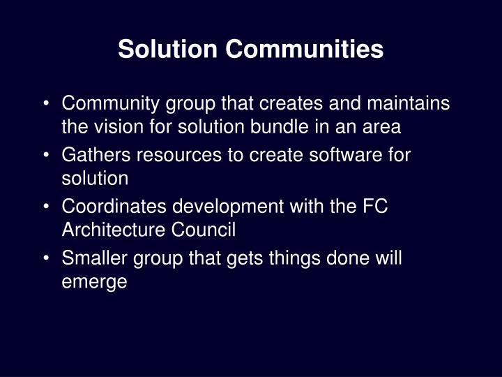 Solution Communities