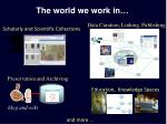 the world we work in