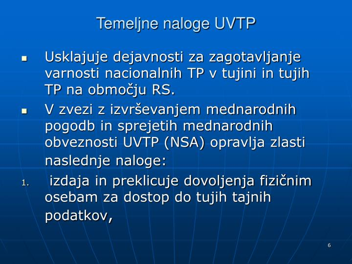 Temeljne naloge UVTP