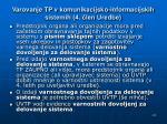 varovanje tp v komunikacijsko informacijskih sistemih 4 len uredbe