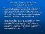 varovanje tp v komunikacijsko informacijskih sistemih
