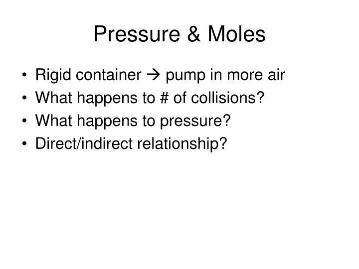 Pressure & Moles