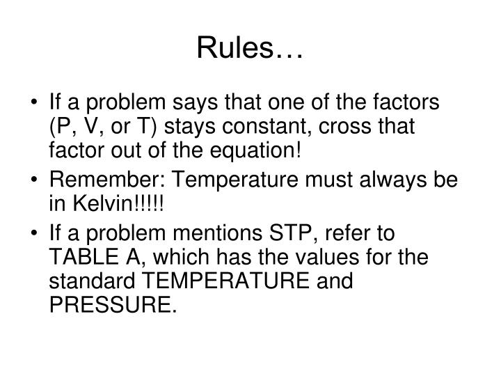 Rules…