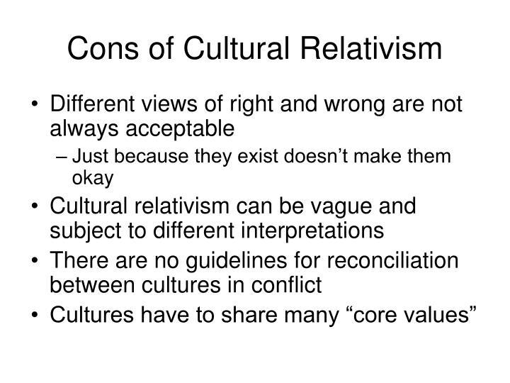 cultural relativism 4 essay Download thesis statement on cultural relativism in our database or order an original thesis paper that will be written by one of our staff writers and delivered.
