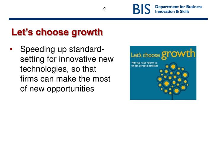 Let's choose growth