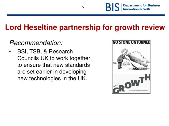 Lord Heseltine partnership for growth review