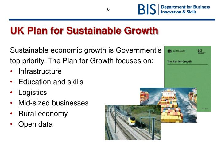 UK Plan for Sustainable Growth