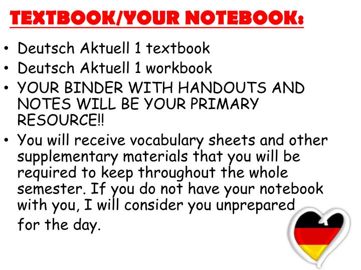 TEXTBOOK/YOUR NOTEBOOK: