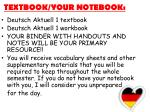 textbook your notebook