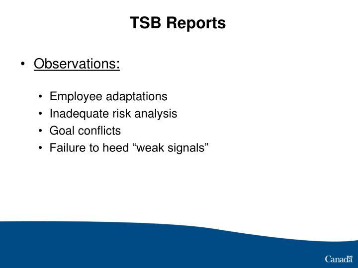 TSB Reports
