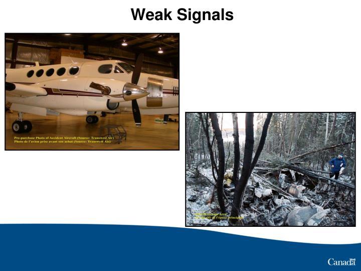 Weak Signals