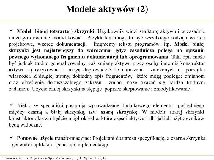 Modele aktywów (2)