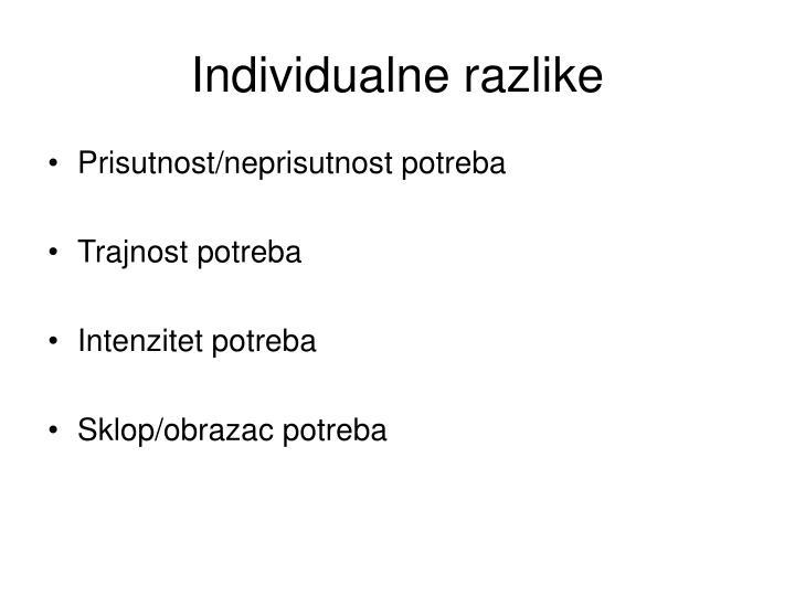 Individualne razlike